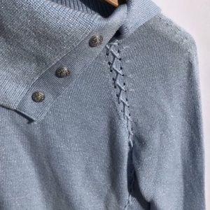 White House Black Market Shimmering Blue Sweater